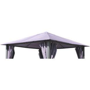 Grasekamp Ersatzdach zu Garten-Pavillon Paris 3x3m  Grau Gazebo Gartenzelt Partyzelt - Bild 1
