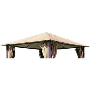Grasekamp Ersatzdach zu Pavillon Paris 3x3m Sand  Plane Bezug Gartenpavillon - Bild 1