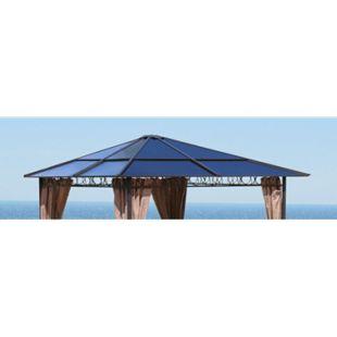 Grasekamp Ersatzdach Hardtop Pavillon 3x3m  Doppelstegplatten Polycarbonat Braun - Bild 1