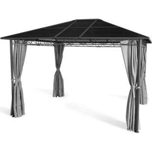 Grasekamp Hardtop Pavillon Meran 3x3,6m mit  Seitenteile Doppelstegplatten Hohlkammer  Polycarbonat - Bild 1