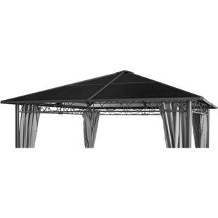 Grasekamp Ersatzdach Hardtop Pavillon Meran 3x3m  Doppelstegplatten Polycarbonat Braun - Bild 1