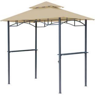 Grasekamp BBQ Grillpavillon 1,5x2,4m mit  Flammschutzdach und Abzug Sand  Unterstand Gazebo - Bild 1