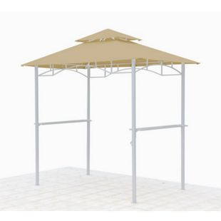 Grasekamp Ersatzdach für BBQ Grill Pavillon  1,5x2,4m Sand Unterstand Doppeldach  Gazebo - Bild 1