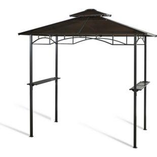 Grasekamp Hardtop BBQ Grill Pavillon 1,5x2,4m  Doppelstegplatten Polycarbon  Grillpavillon - Bild 1