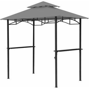 Grasekamp BBQ Grillpavillon 1,5x2,4m mit  Flammschutzdach und Abzug Grau  Unterstand Gazebo - Bild 1