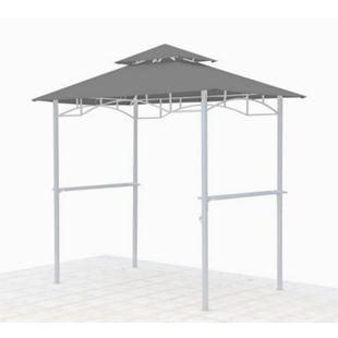 Grasekamp Ersatzdach für BBQ Grill Pavillon  1,5x2,4m Grau Unterstand Doppeldach  Gazebo - Bild 1