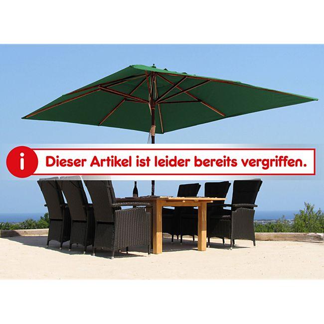 grasekamp holz sonnenschirm 300x400cm polyester gr n gartenschirm sonnenschutz uv50 rechteckig. Black Bedroom Furniture Sets. Home Design Ideas