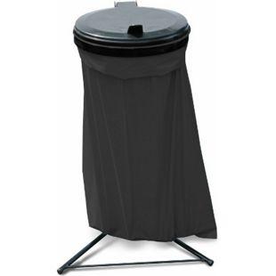 Grasekamp Abfallsammler Talent mit Deckel und 10 120L Müllsäcken Müllsackständer - Bild 1