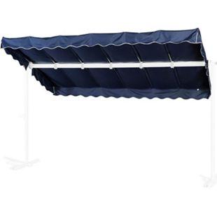 Grasekamp Ersatzdach Standmarkise Dubai Blau  Raffmarkise Ziehharmonika Mobile Markise - Bild 1