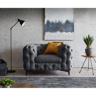 Loungesessel Corleone Graphite 120x97 cm Clubsessel - Bild 1
