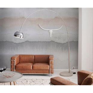 Stehlampe Big-Deal Deluxe Silber verchromt mit Dimmer und Betonfuß Bogenlampe - Bild 1