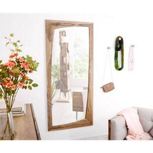 Spiegel Wyatt Sheesham Natur 160x70 cm Unregelmäßig Designer Wandspiegel - Bild 1