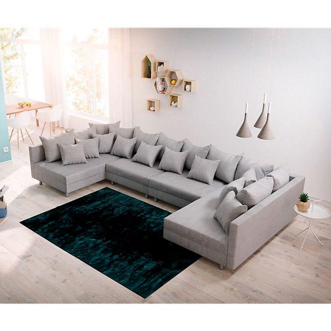 Couch Clovis XL Grau Flachgewebe Wohnlandschaft modular - Bild 1
