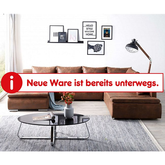 Couch Abilene Braun 330x230 cm Ottomane variabel Schlaffunktion Wohnlandschaft - Bild 1