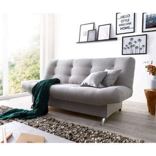 Schlafcouch Viol Grau 190x90 cm mit Bettkasten und Schlaffunktion Schlafsofa - Bild 1