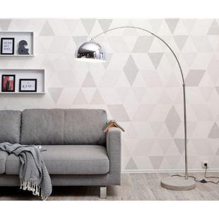Stehlampe Big-Deal Eco Silber Betonfuß höhenverstellbar Bogenleuchte - Bild 1