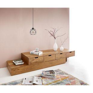 TV- Board-Set Loca Akazie Natur 175x60x37 cm Variabel Massivholz - Bild 1