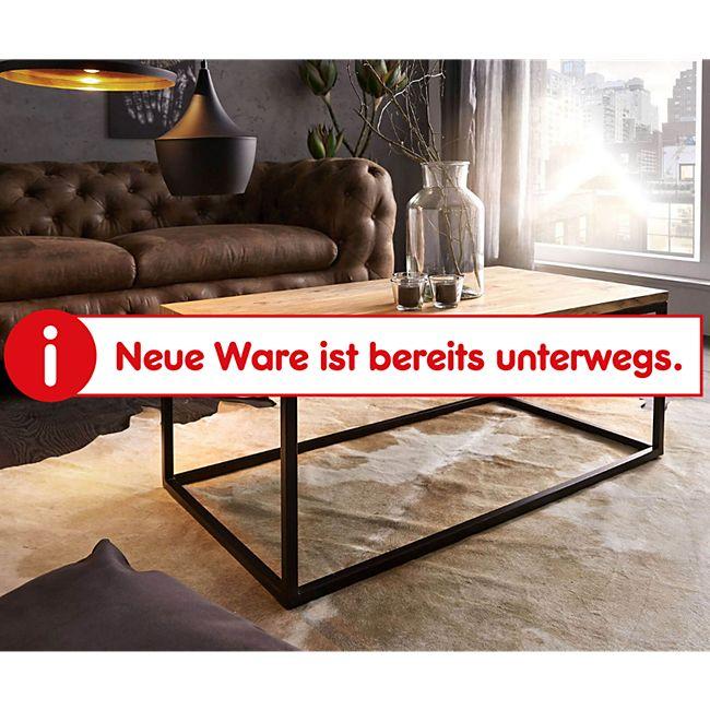Wohnzimmertisch Tatius Akazie Natur 100x57 Gestell Metall Schwarz Industrial Style - Bild 1