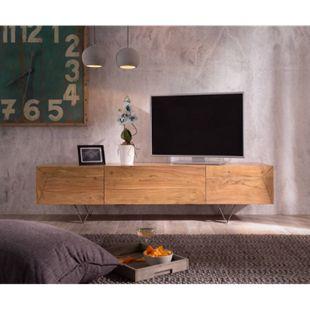 Fernsehtisch Wyatt Akazie Natur 175 cm 1 Klappe 2 Türen Designer Lowboard - Bild 1
