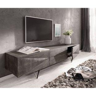 Fernsehtisch Wyatt Akazie Platin 175 cm 2 Türen 1 Klappe Design Lowboard - Bild 1