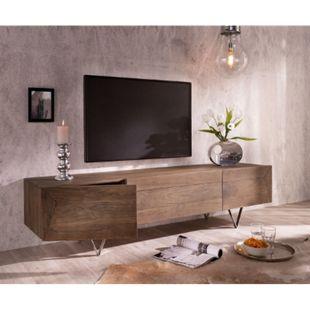 Fernsehtisch Wyatt Akazie Braun 175 cm 1 Klappe 2 Türen Design Lowboard - Bild 1