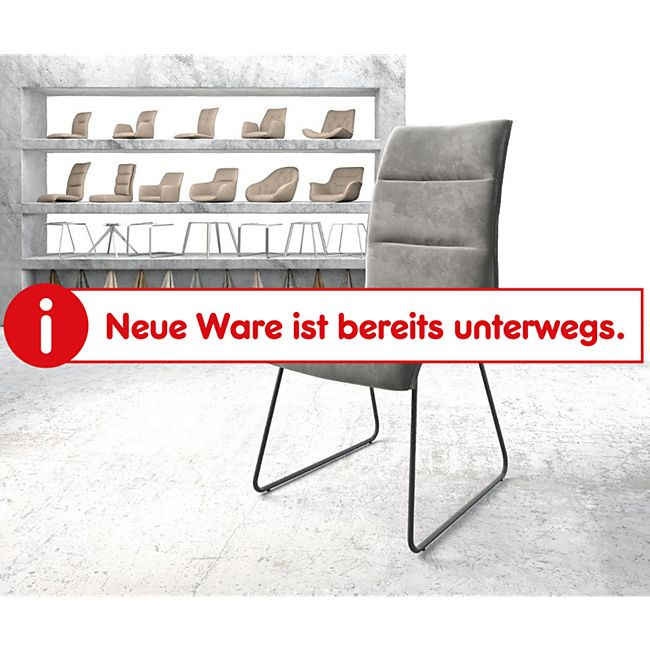 Stuhl Xantus-Flex Kufengestell schwarz Samt Grau - Bild 1