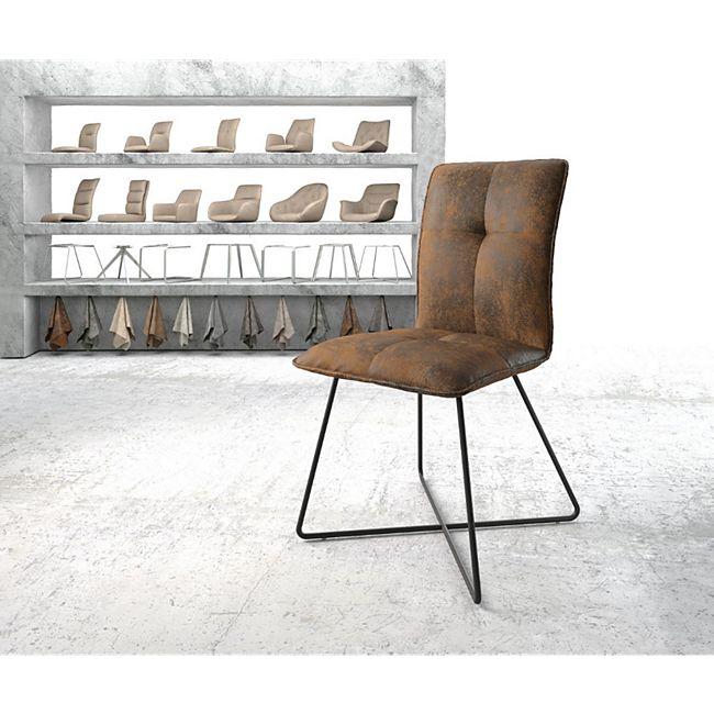 Stuhl Maddy-Flex X-Gestell schwarz Vintage Braun - Bild 1