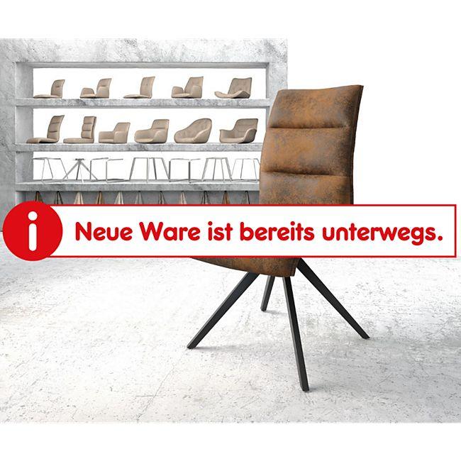 Drehstuhl Xantus-Flex Kreuzgestell kantig schwarz Vintage Braun - Bild 1