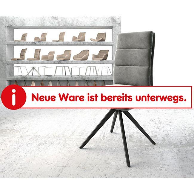 Drehstuhl Pela-Flex Kreuzgestell kantig schwarz Samt Grau - Bild 1
