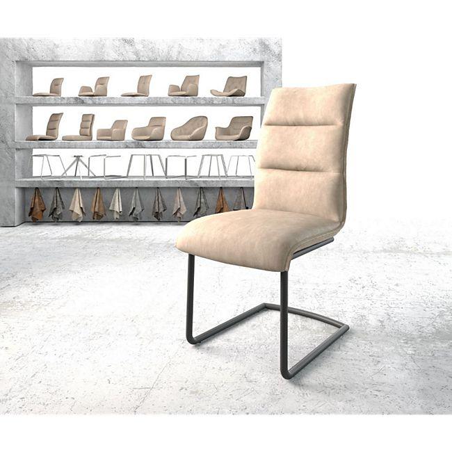 Stuhl Xantus-Flex Freischwinger rund schwarz Vintage Beige - Bild 1