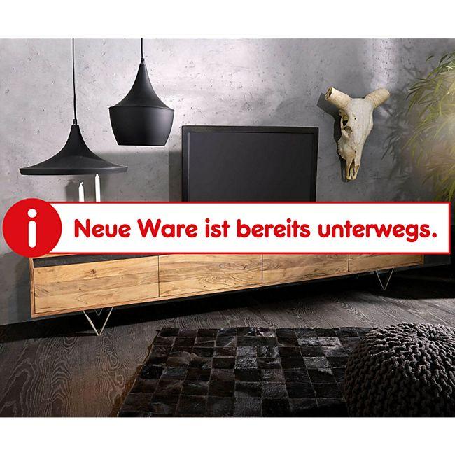Fernsehtisch Stonegrace Akazie Natur 240 cm 4 Türen Design Lowboard - Bild 1