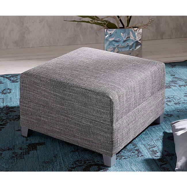 Sofa-Hocker Panama Hellgrau Modul B72 x T72 Strukturstoff Sitzhocker - Bild 1