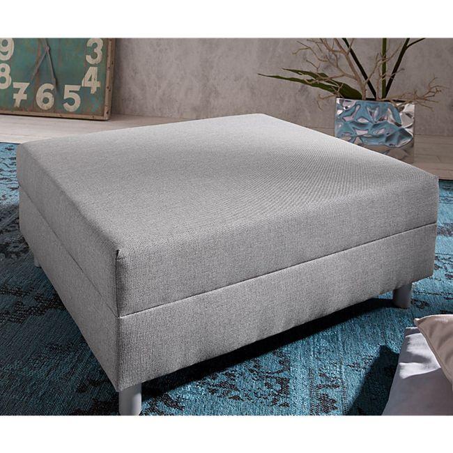 Sofa-Hocker Clovis Grau Modul B98 x T83 Flachgewebe Sitzhocker - Bild 1