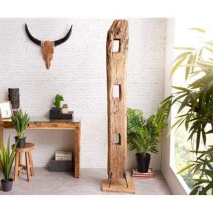 Dekoobjekt Belka Balken Teakholz Natur XXL handgefertigt Unikat massiv Dekoration - Bild 1