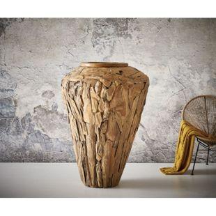 Dekovase Kasida Teak Natur 130x90 cm Massivholz - Bild 1