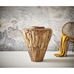 Dekovase Karita Teak Natur 80x70 cm Massivholz - Bild 1