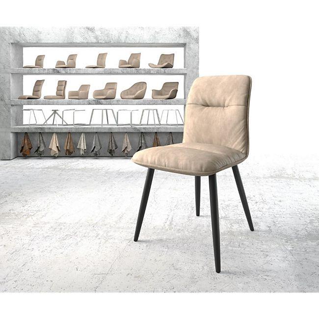 Stuhl Vinjo-Flex 4-Fuß konisch Schwarz Vintage Beige - Bild 1