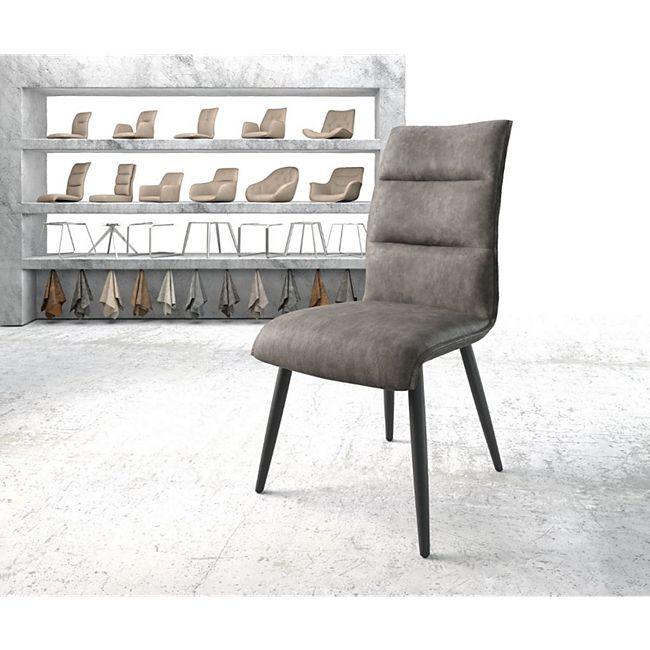 Stuhl Xantus-Flex 4-Fuß konisch Schwarz Vintage Anthrazit - Bild 1