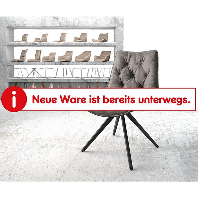 Drehstuhl Taimi-Flex Kreuzgestell kantig Schwarz Vintage Grau - Bild 1