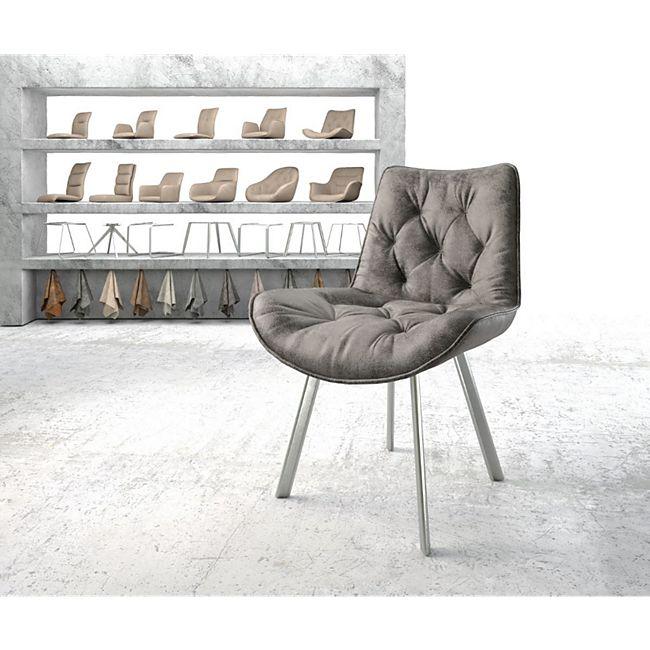 Stuhl Taimi-Flex 4-Fuß oval Edelstahl Vintage Grau - Bild 1