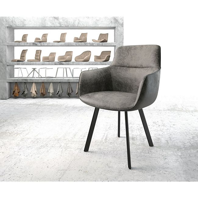 Stuhl Pejo-Flex 4-Fuß oval Schwarz Vintage Grau - Bild 1