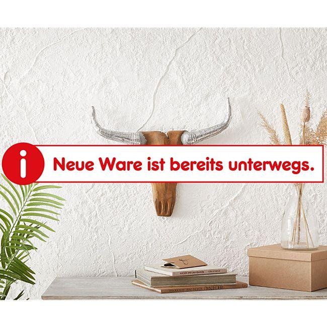 Dekogeweih Kuhkopf Teak Natur 53x43 cm Massivholz Horn Silber - Bild 1