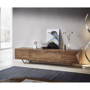 TV-Board Wyatt Natur 200x40x46 cm Teak Lowboard - Bild 1