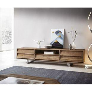 TV-Board Eloi Natur 200x40x45 cm Teak Lowboard - Bild 1