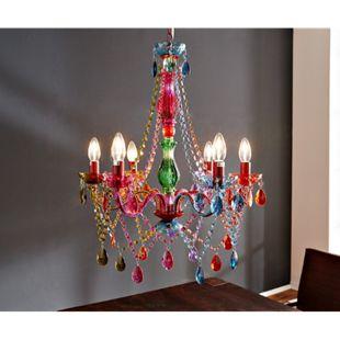 Kronleuchter Gypsy Starlight-Multi-Rainbow Bunt 55 cm Hängeleuchte - Bild 1
