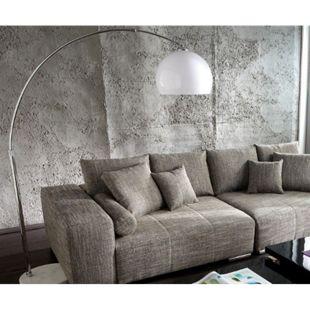 Lampe Big-Deal XL Lounge Weiß höhenverstellbar Marmor Bogenleuchte - Bild 1