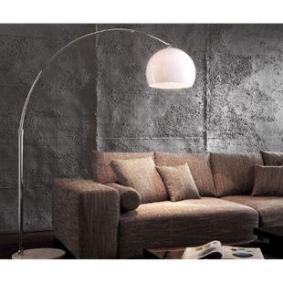 Lampe Big-Deal Eco Lounge Weiss Marmor verstellbar Bogenleuchte - Bild 1