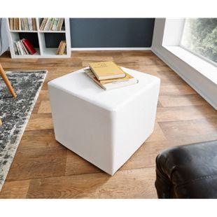 Sitzhocker Dado Weiss 45x45 cm Sitzwürfel - Bild 1