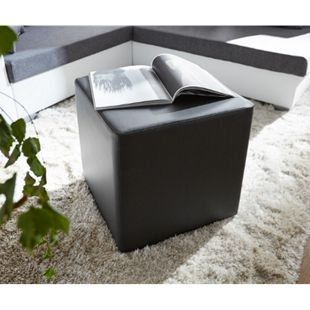 Sitzhocker Dado Schwarz 45x45 cm Sitzwürfel - Bild 1