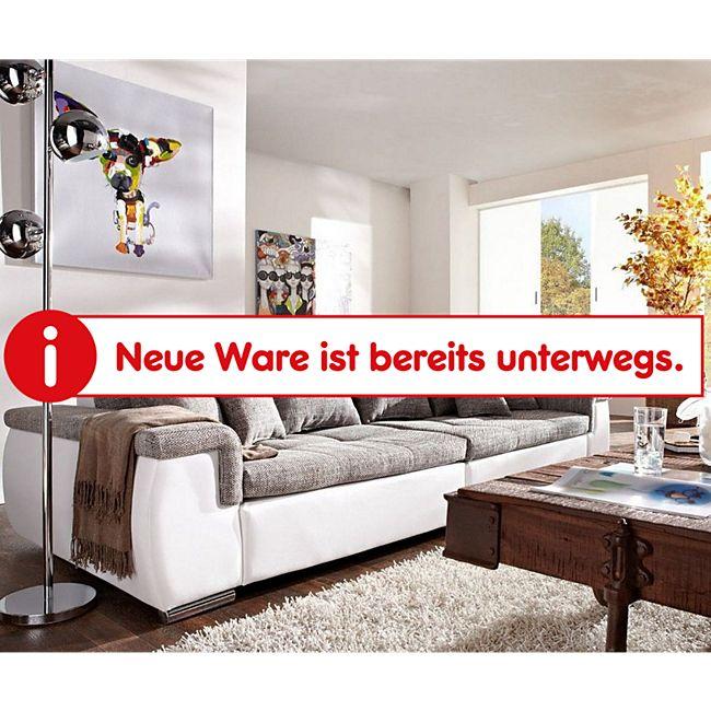 Couch Navin Hellgrau Weiss 275x116 cm Sofa mit Kissen - Bild 1
